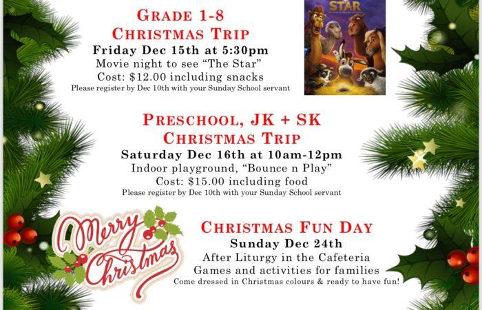 Christmas Activities @ COR