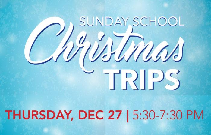 COR Sunday School Christmas Trips 2018