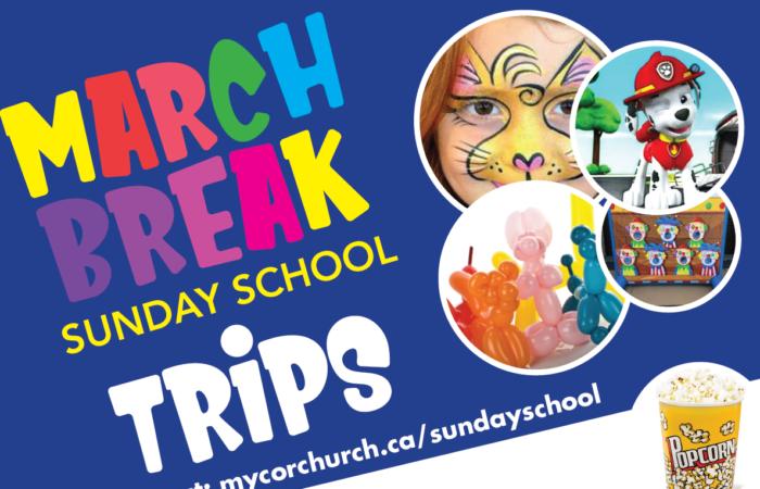 COR Sunday School March Break Activities 2019
